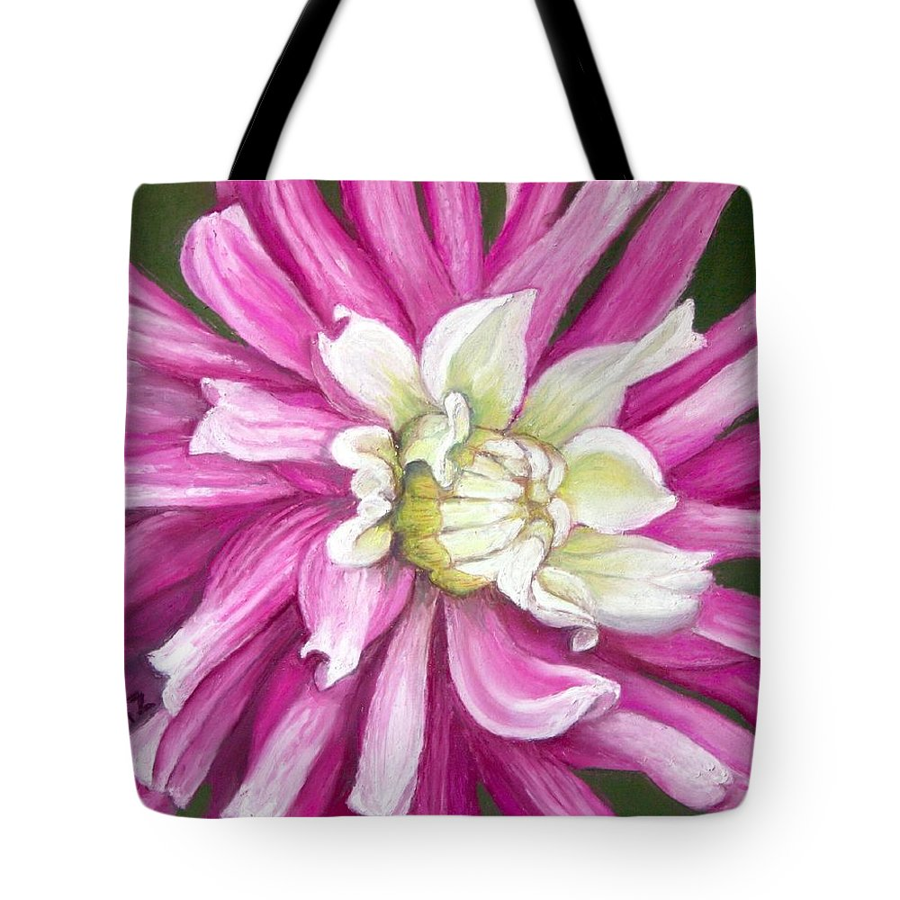 Floral Tote Bag featuring the painting Pink Petal Blast by Minaz Jantz
