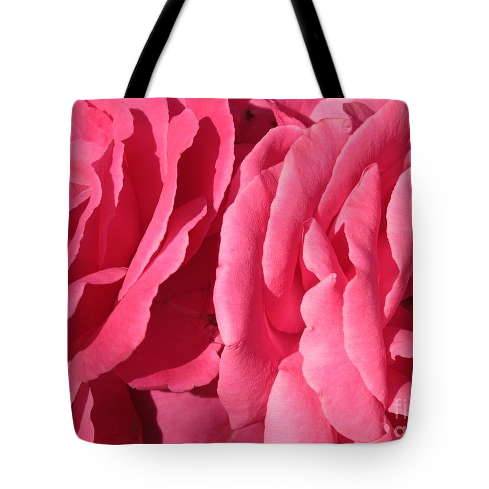 Pink Tote Bag featuring the photograph Pink Petals by Carol Groenen