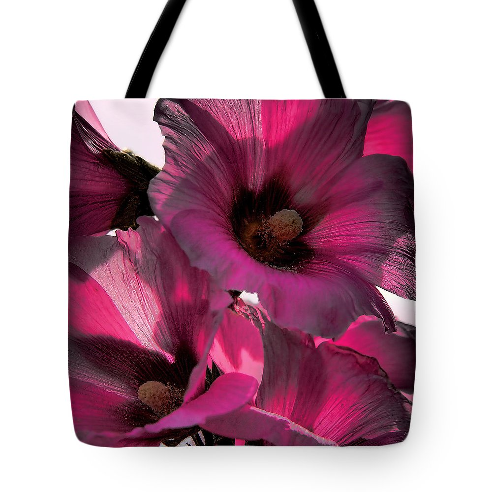 Flower Tote Bag featuring the photograph Pink Petunia by David Patterson