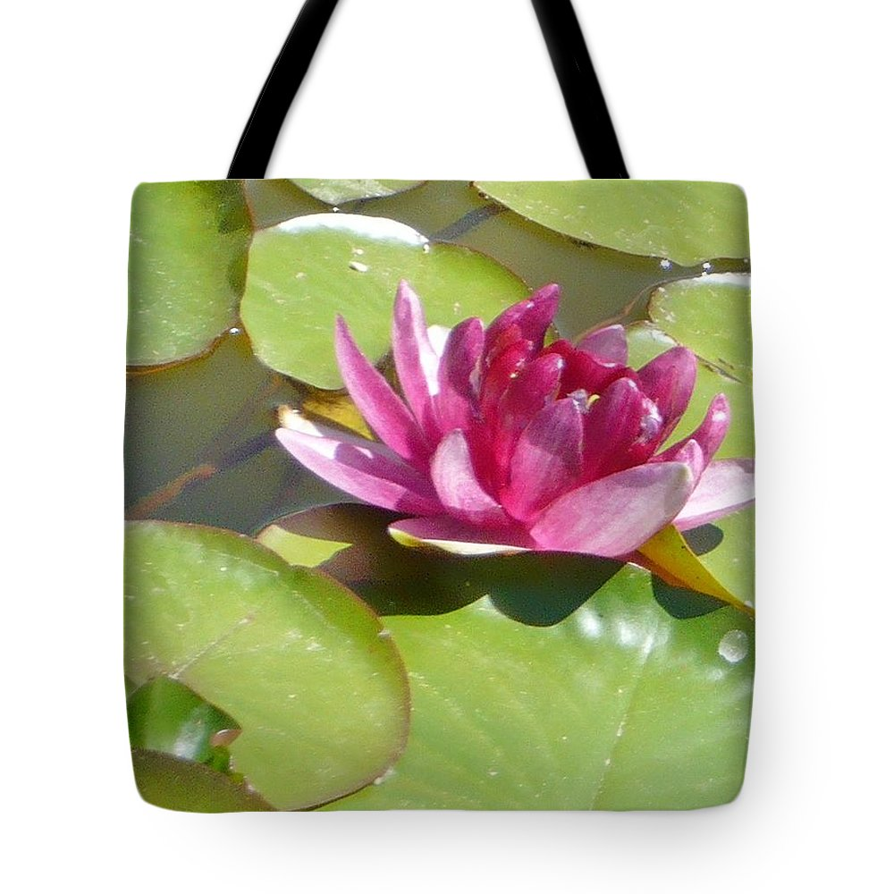 Lotus Pink Tote Bag featuring the photograph Pink by 'REA' Gallery