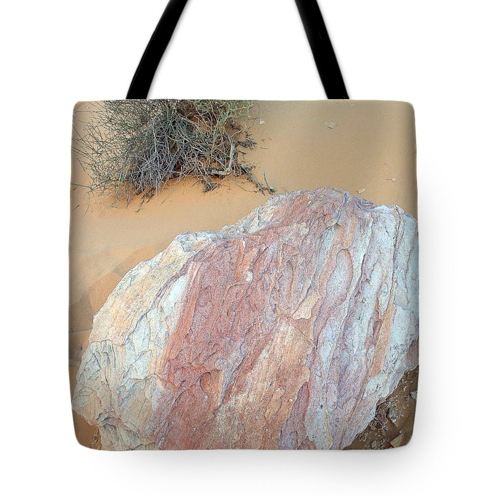 Rock Tote Bag featuring the photograph Pink Rock by Mary Haber