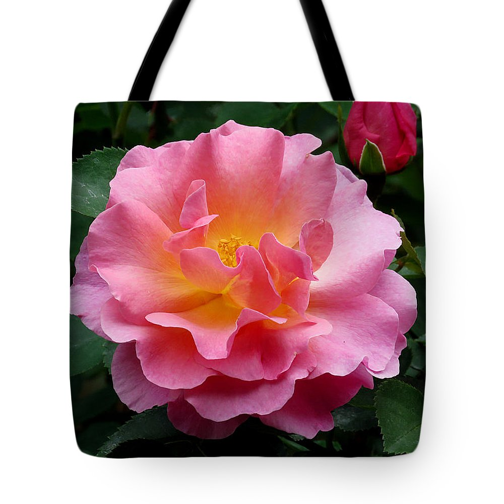Rose Tote Bag featuring the photograph Pink Rose 3 by J M Farris Photography