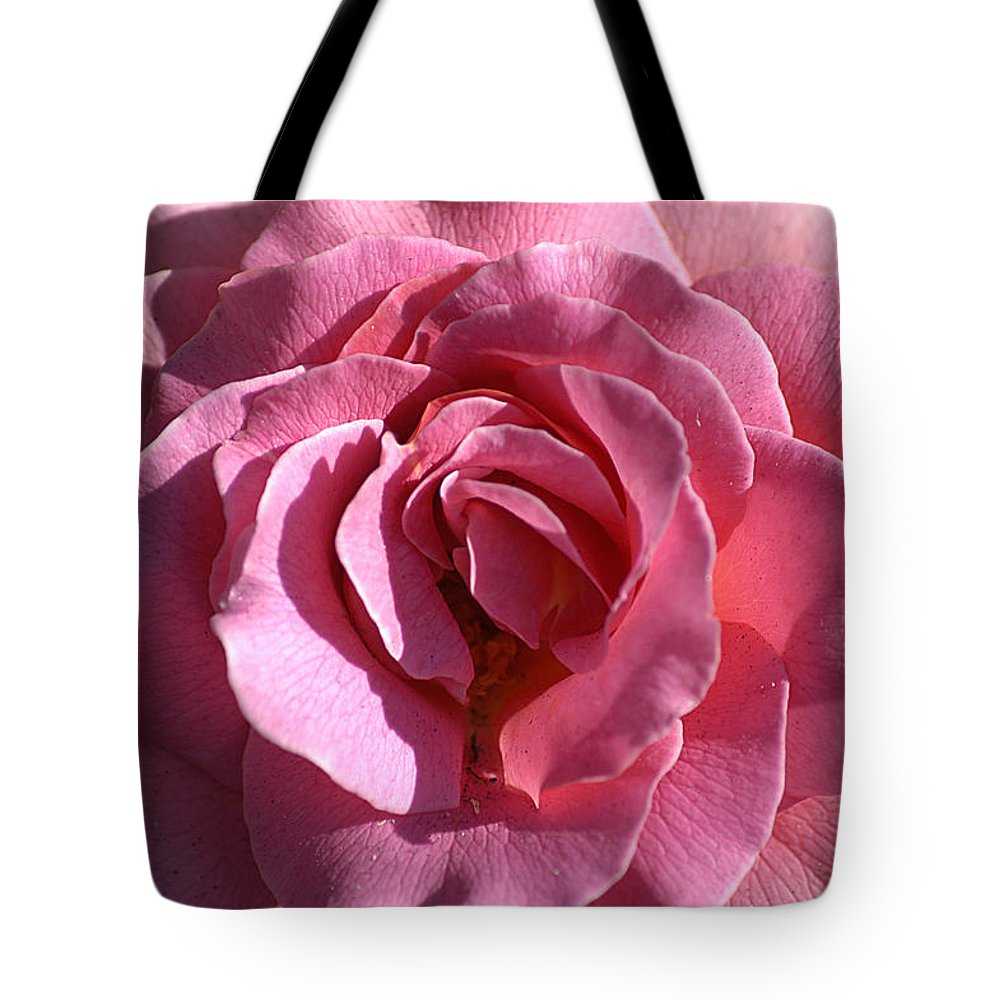 Clay Tote Bag featuring the photograph Pink Rose by Clayton Bruster