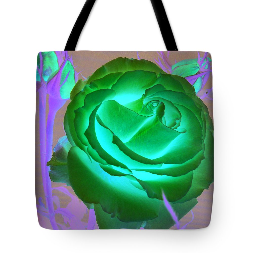 Rose Tote Bag featuring the photograph Pink Rose by Mary Gaines
