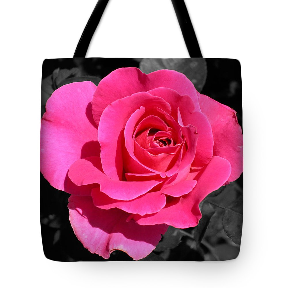 Pink Tote Bag featuring the photograph Perfect Pink Rose by Michael Bessler