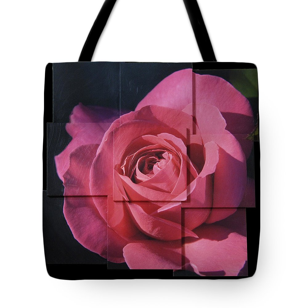 Rose Tote Bag featuring the sculpture Pink Rose Photo Sculpture by Michael Bessler