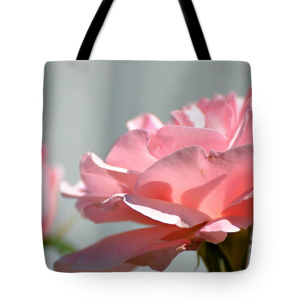 Pink Tote Bag featuring the photograph Pink Rose by Robin White