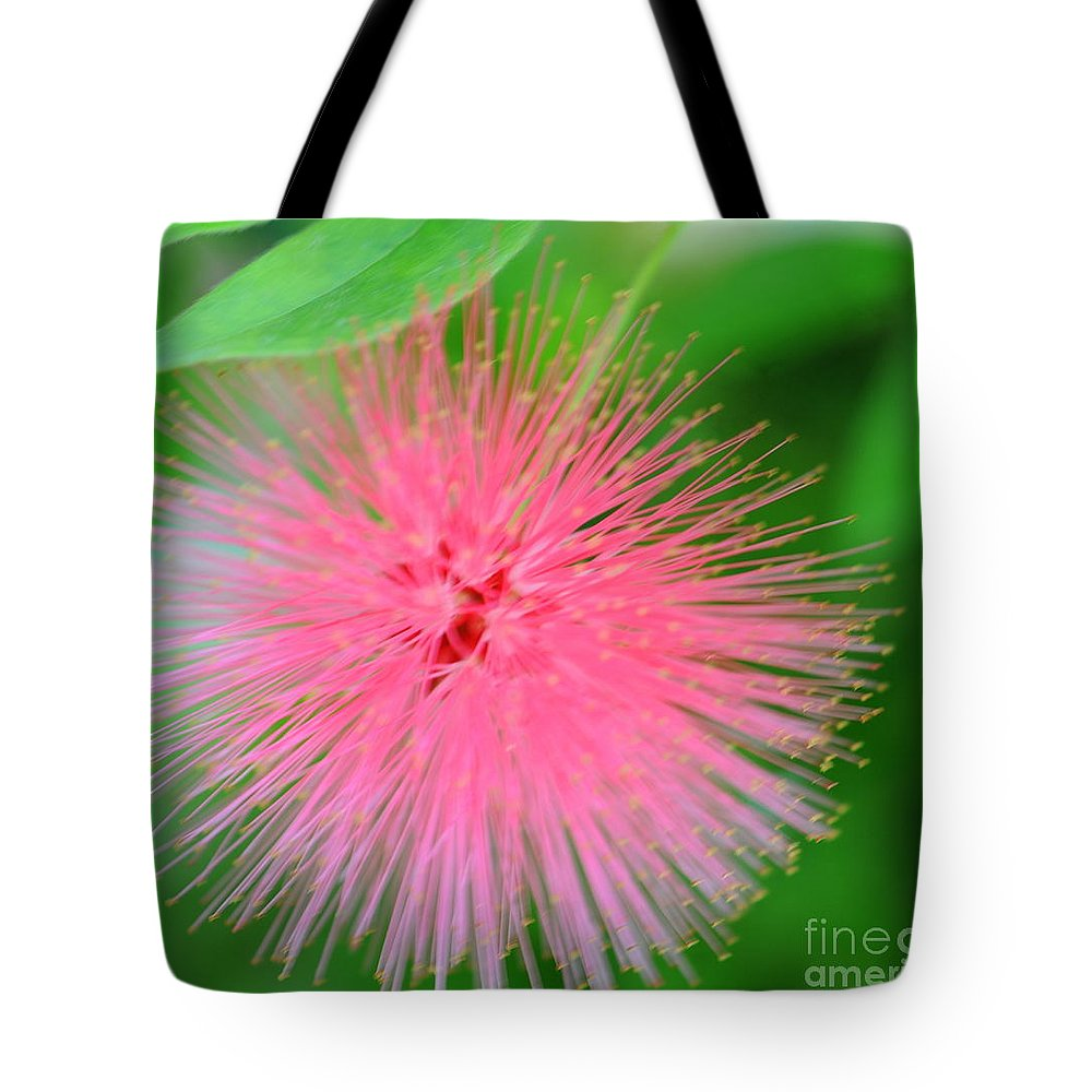 Pink Tote Bag featuring the photograph Pink Spikes by Kathleen Struckle