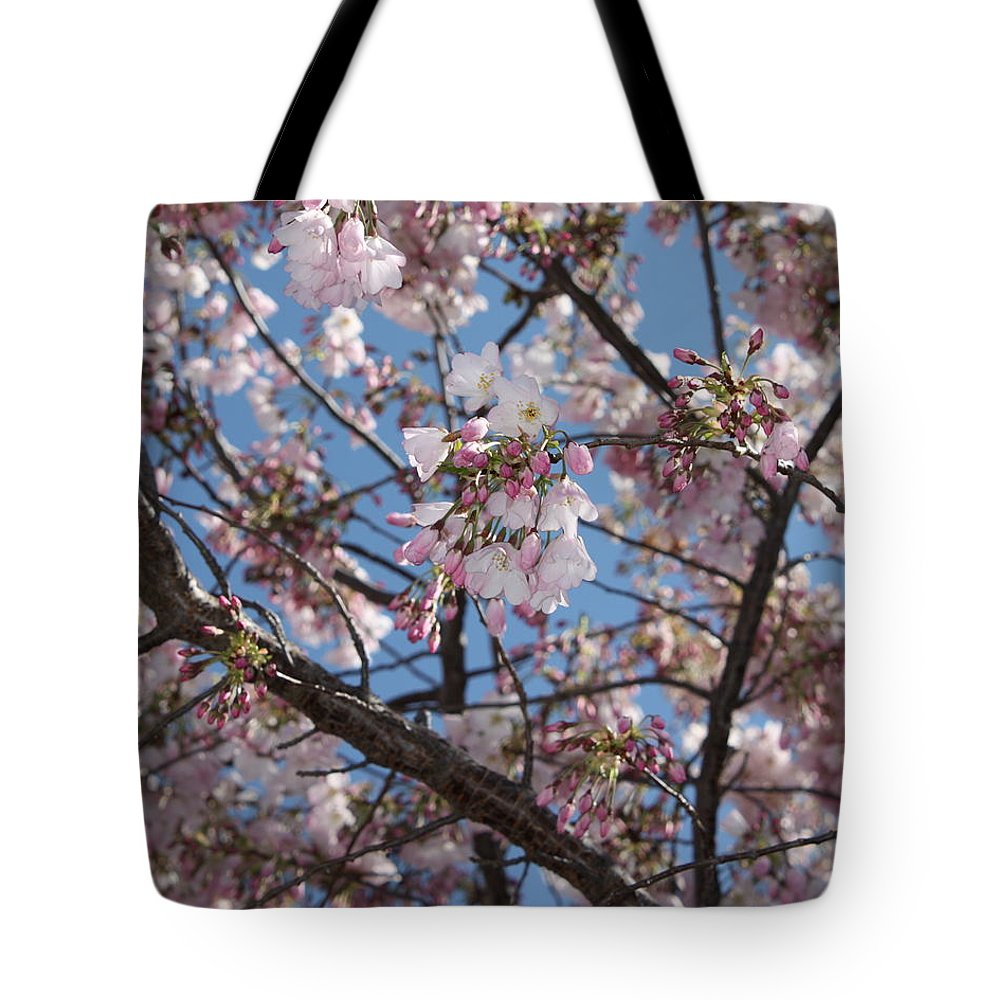Spring Tote Bag featuring the photograph Pink Spring Blossoms by Carol Groenen
