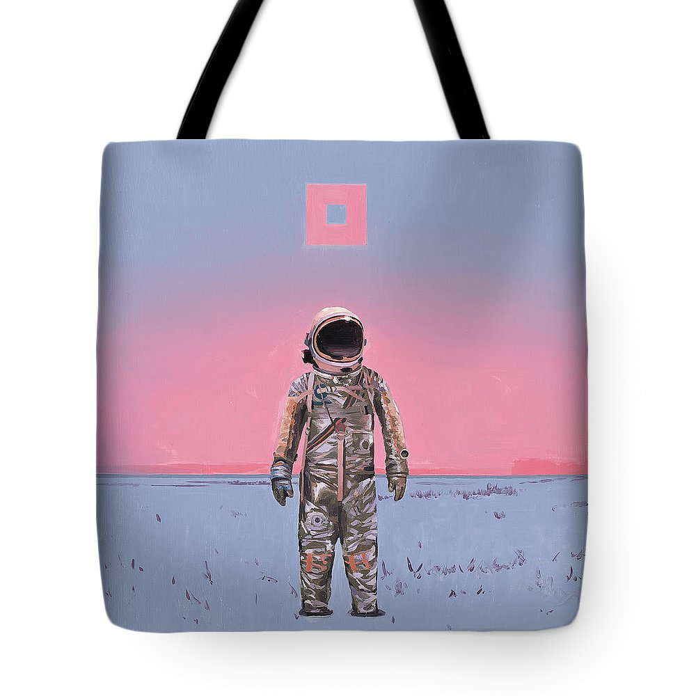 Space Tote Bag featuring the painting Pink Square by Scott Listfield