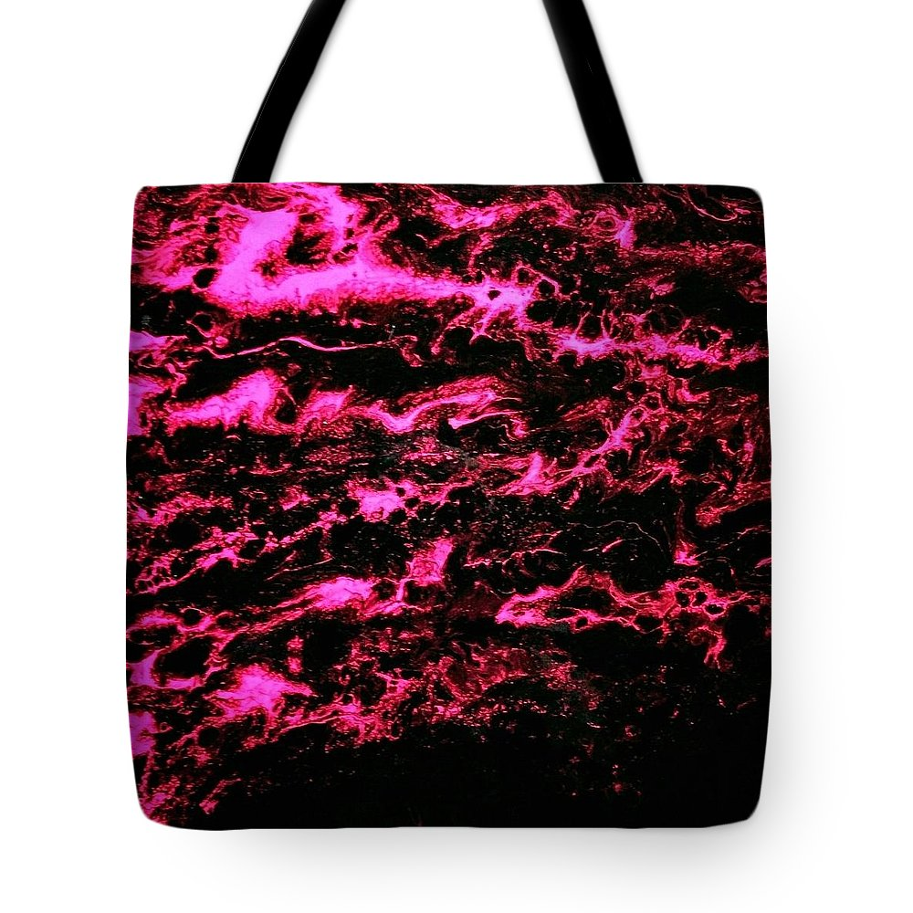 Abstract Tote Bag featuring the painting Pink Storm by Melissa Lynch
