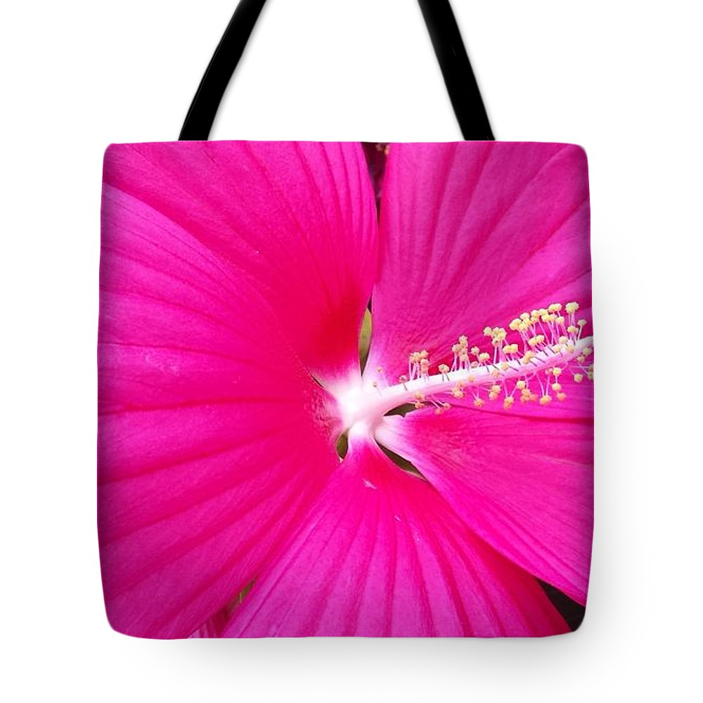 Summer Tote Bag featuring the photograph Pink Summer Flower by Beril Sirmacek