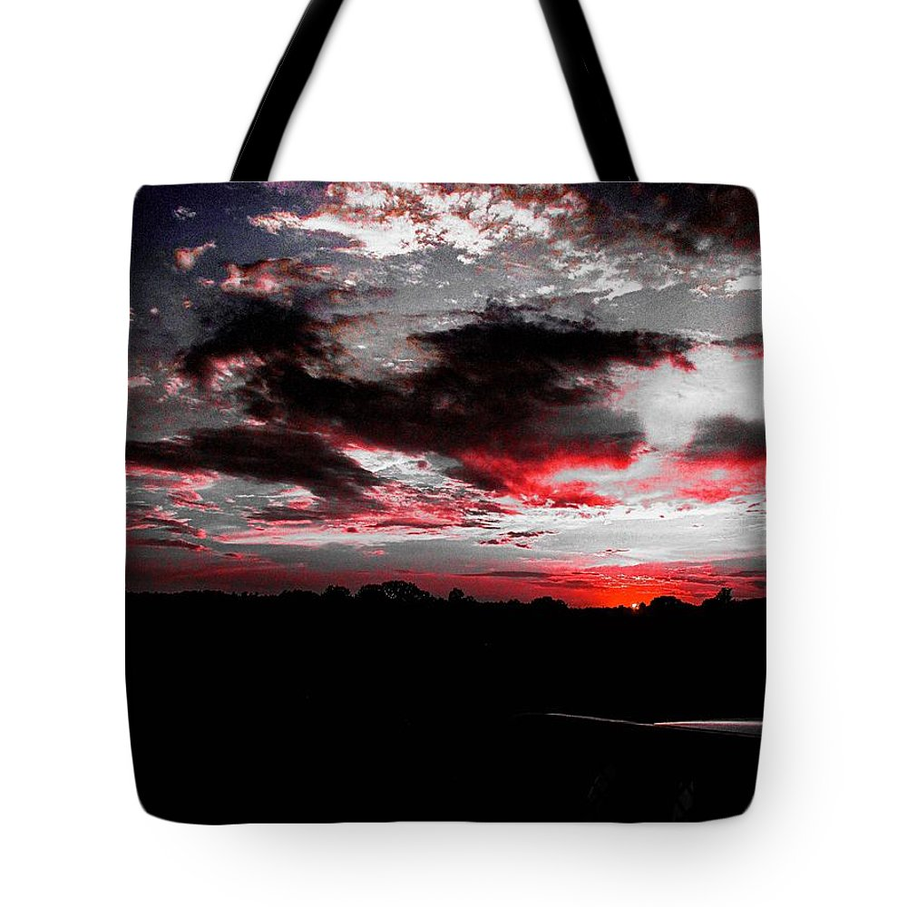 Sunset Tote Bag featuring the photograph Pink Sunset by LaShae Ford