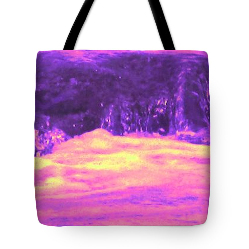 Seascape Tote Bag featuring the photograph Pink Tidal Pool by Ian MacDonald