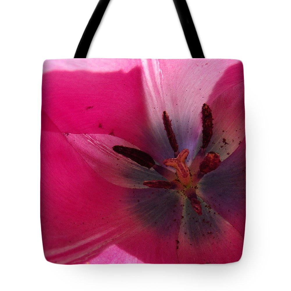 Pink Tote Bag featuring the photograph Pink Tulip by Erin Rednour
