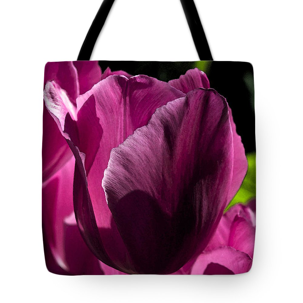 Summer Tote Bag featuring the photograph Pink Tulip Watercolor by Cathy Mahnke