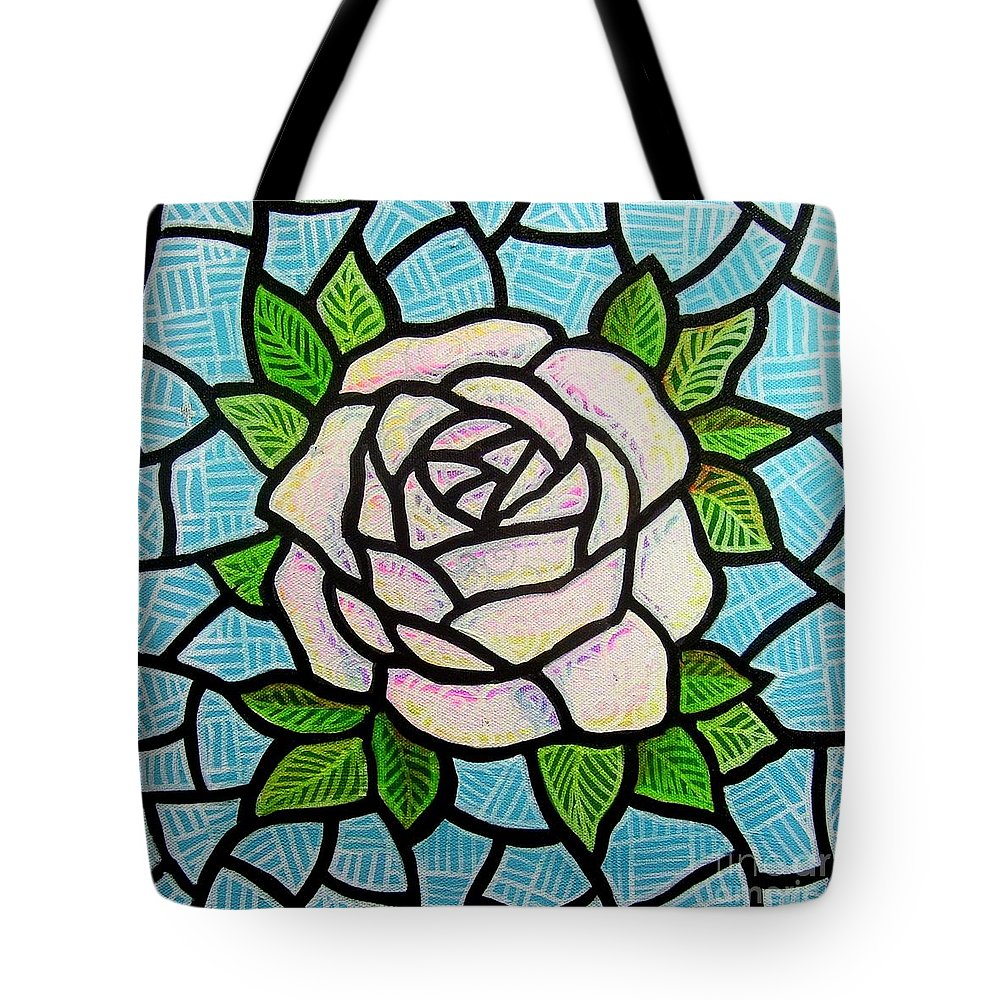 Rose Tote Bag featuring the painting Pinkish Rose by Jim Harris
