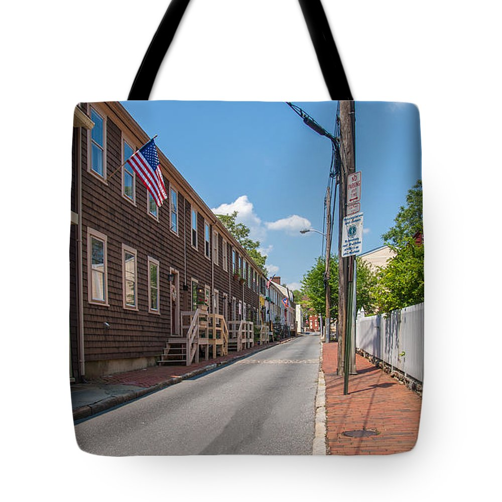 Landscape Tote Bag featuring the photograph Pinkney Street by Charles Kraus