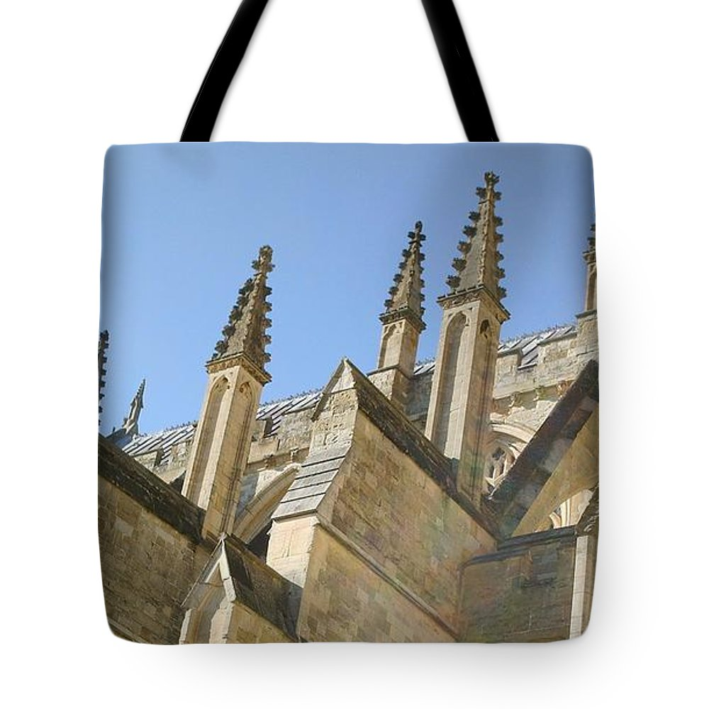 Cathedral Tote Bag featuring the photograph Pinnacles by Richard Brookes