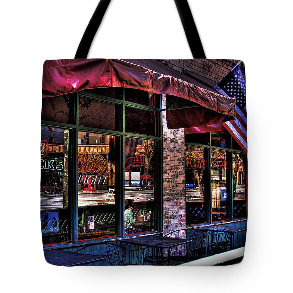Pioneer Square Tote Bag featuring the photograph Pioneer Square Tavern by David Patterson