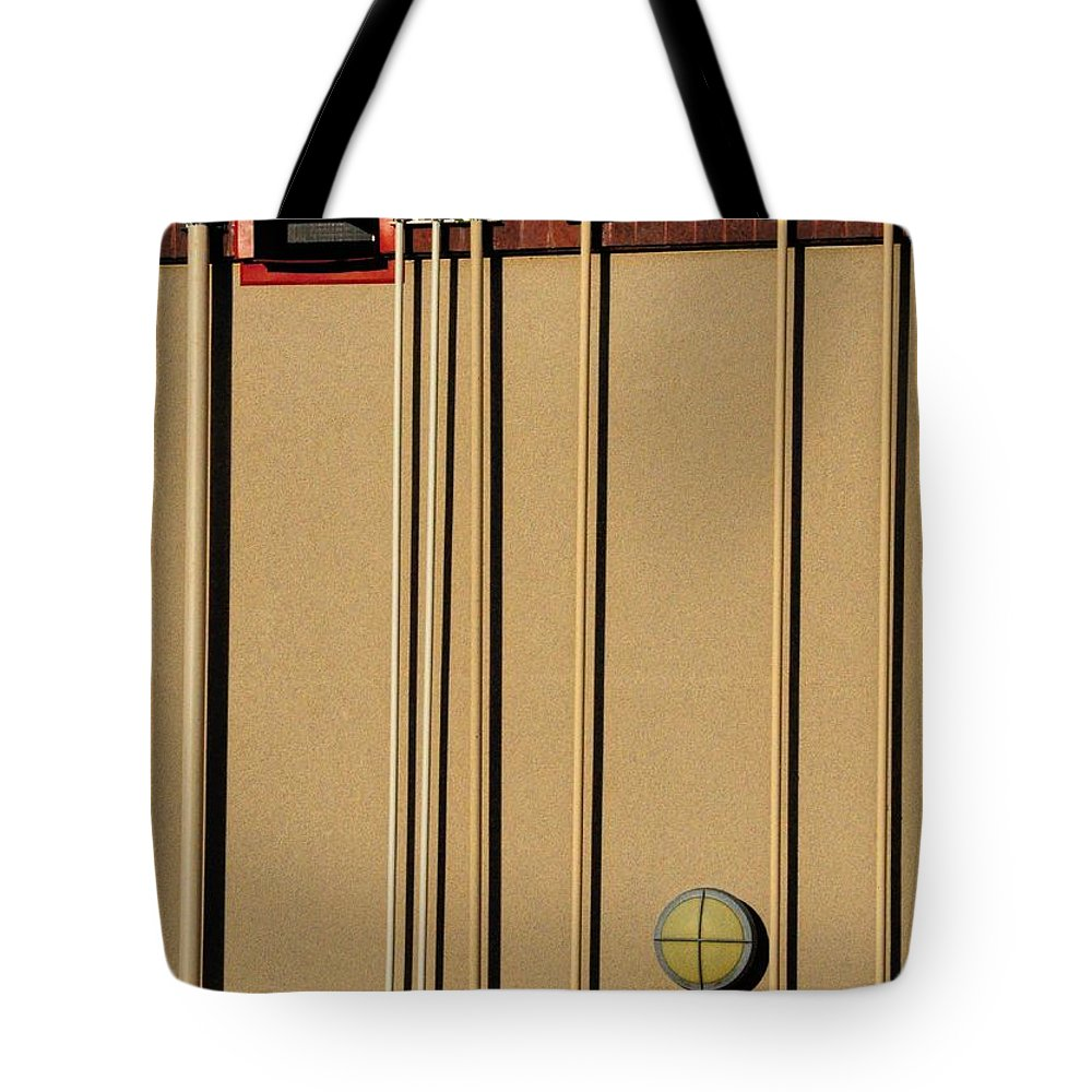Pipes Tote Bag featuring the photograph Pipes by Merrimon Crawford