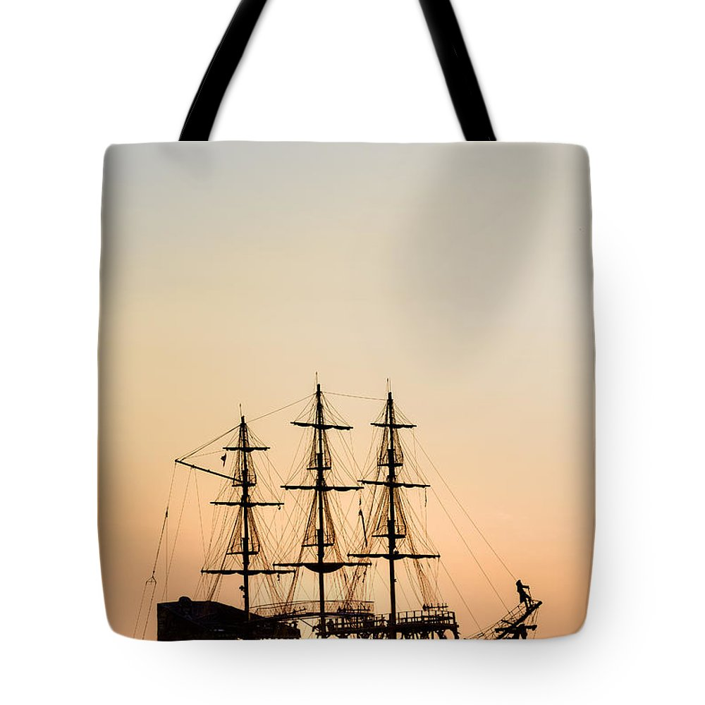 Ship Tote Bag featuring the photograph Pirate Boat by Joana Kruse