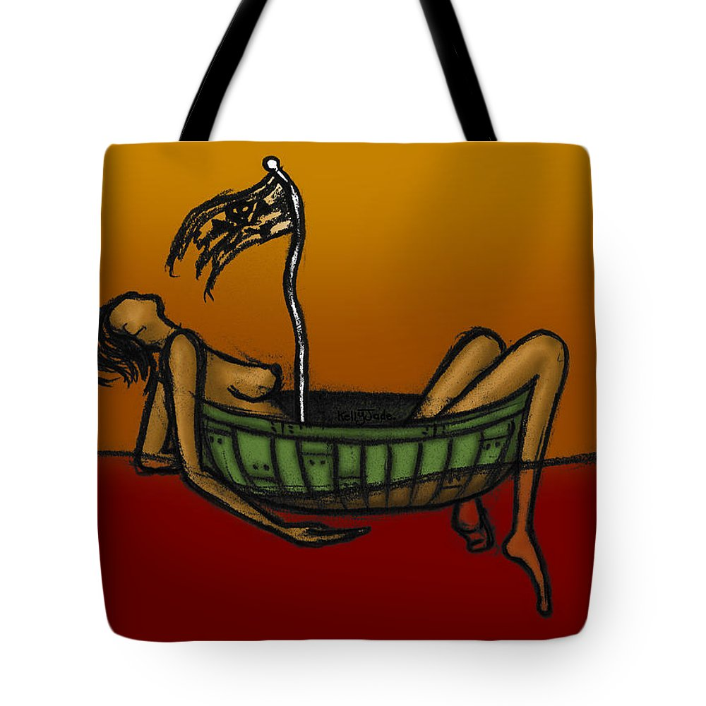 Pirate Tote Bag featuring the digital art Pirate by Kelly Jade King