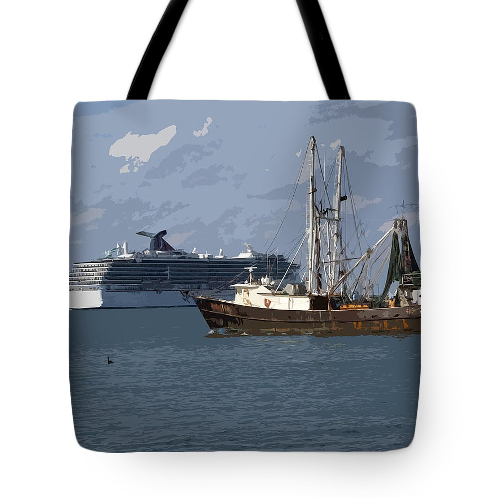 Boat Tote Bag featuring the painting Pirate Two by Allan Hughes