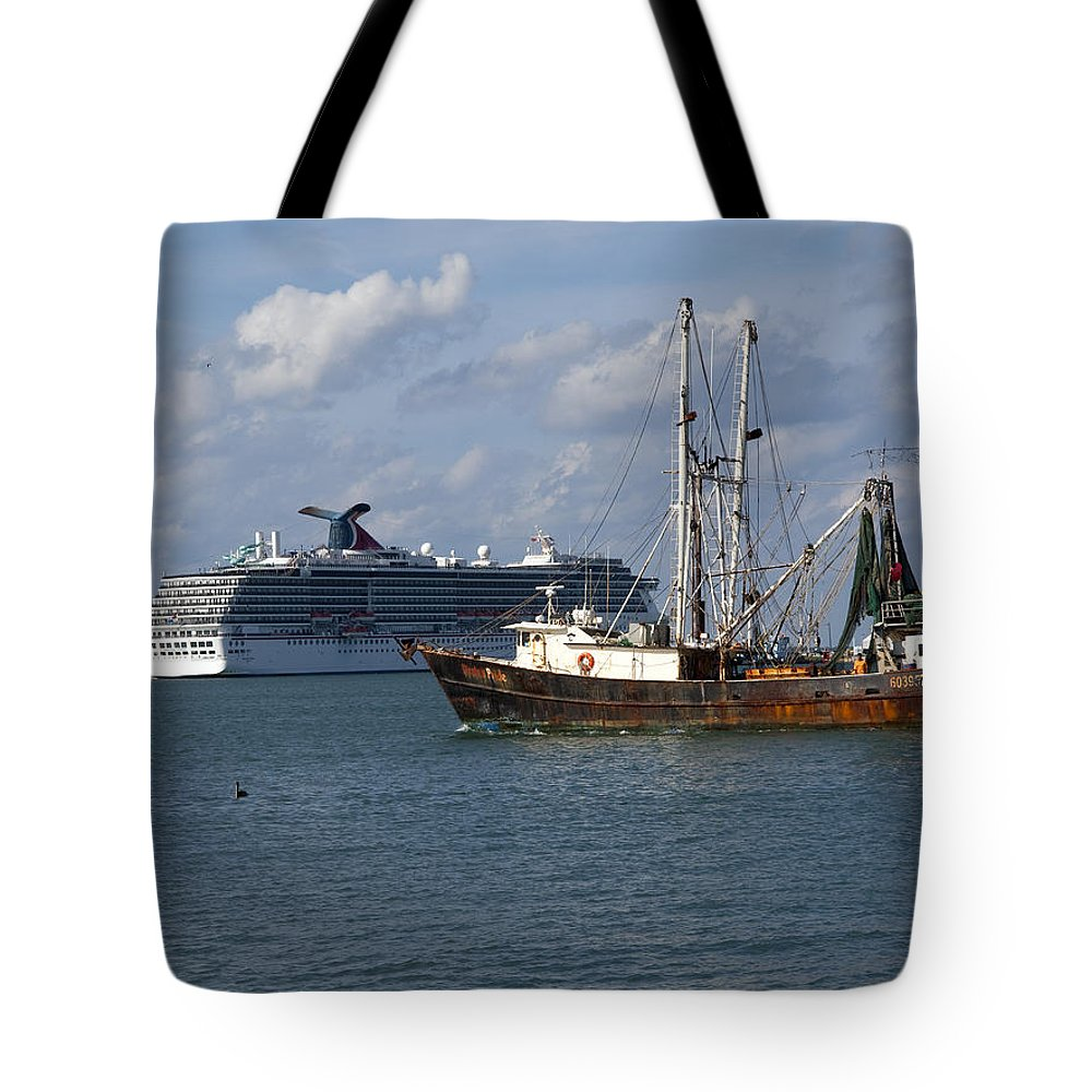 Canaveral Tote Bag featuring the photograph Pirate's Pride In Port Canaveral by Allan Hughes