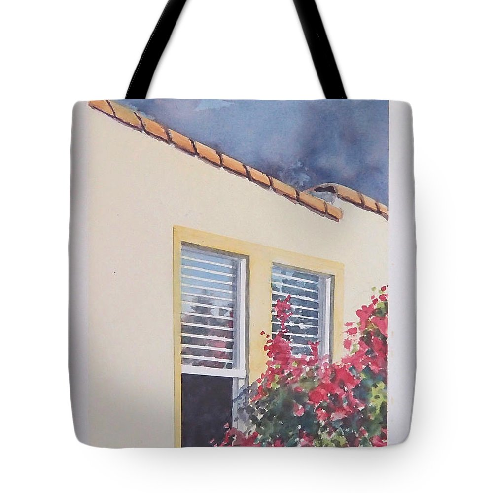 Cottage Tote Bag featuring the painting Pismo Cottage by Philip Fleischer