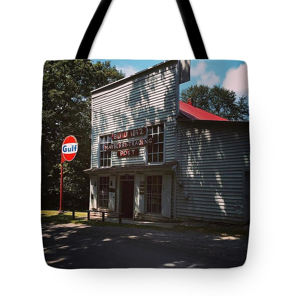 Mayberry Tote Bag featuring the photograph Mayberry by Carlyn Kelley