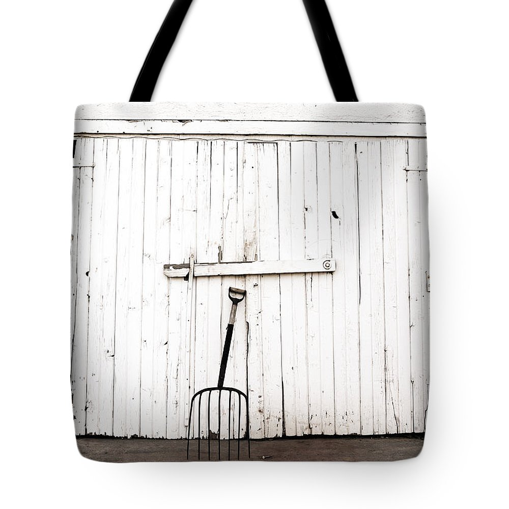 Americana Tote Bag featuring the photograph Pitch Fork by Marilyn Hunt