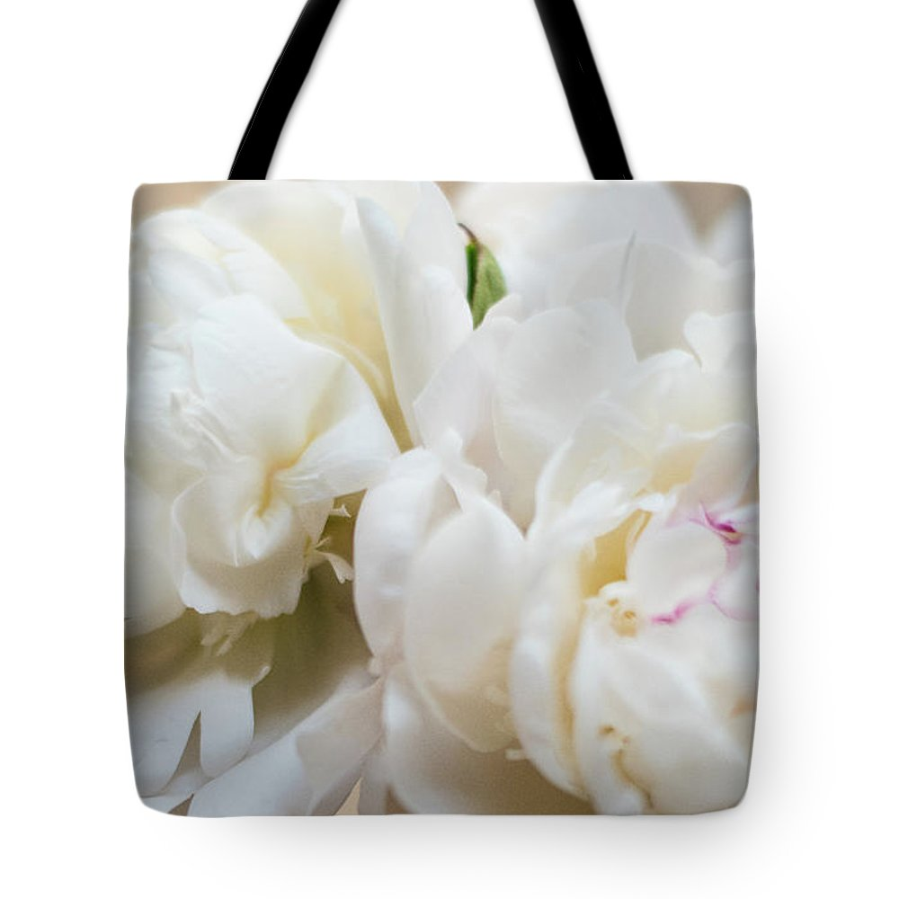 Peonies Tote Bag featuring the photograph Pitcher Of Peonies by Jessica Ruscello