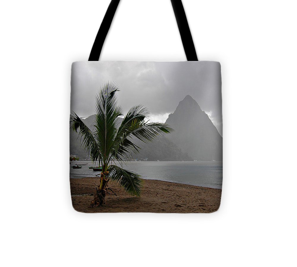 St. Lucia Tote Bag featuring the photograph Pitons - St. Lucia by J R Baldini