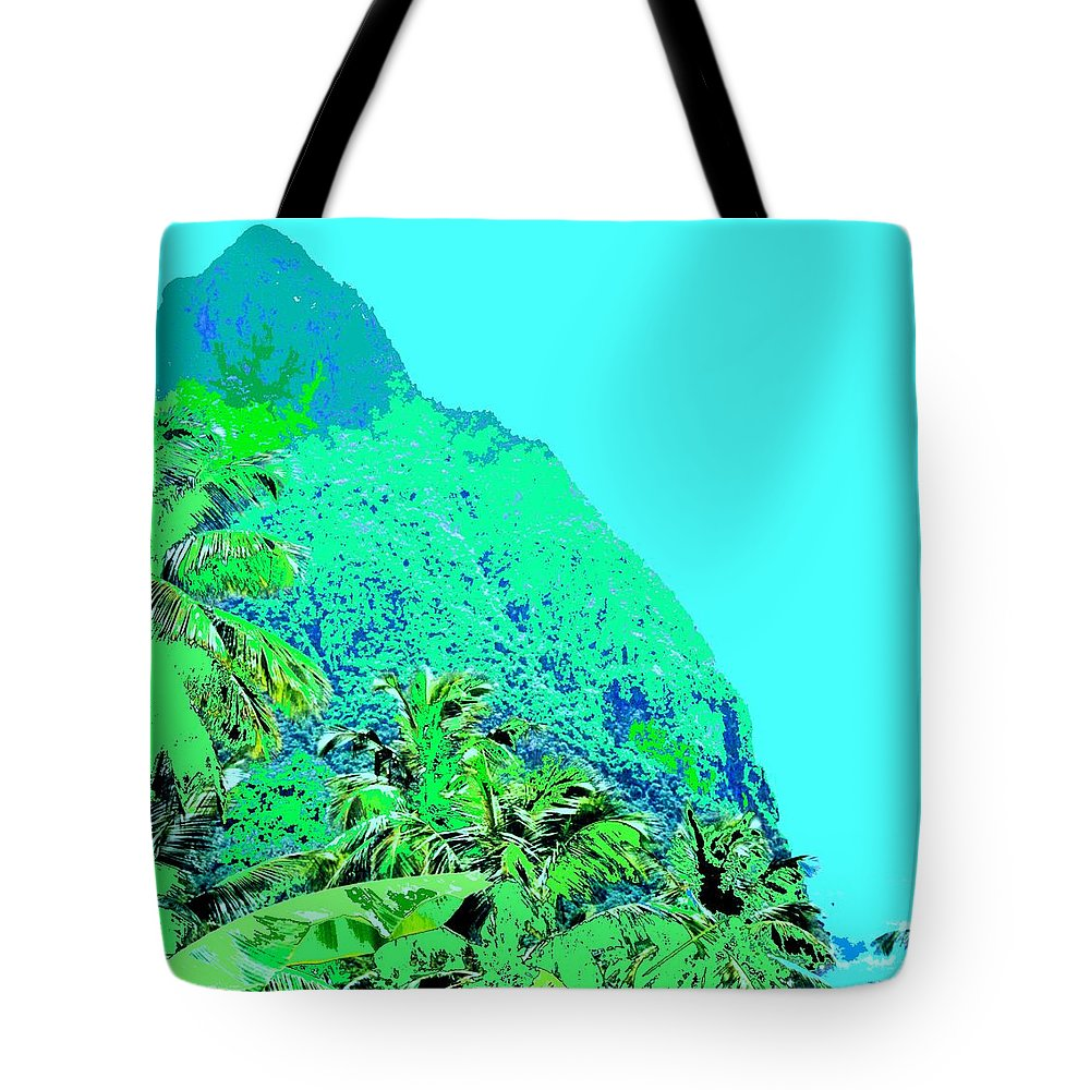 Pitons Tote Bag featuring the photograph Pitons by Ian MacDonald