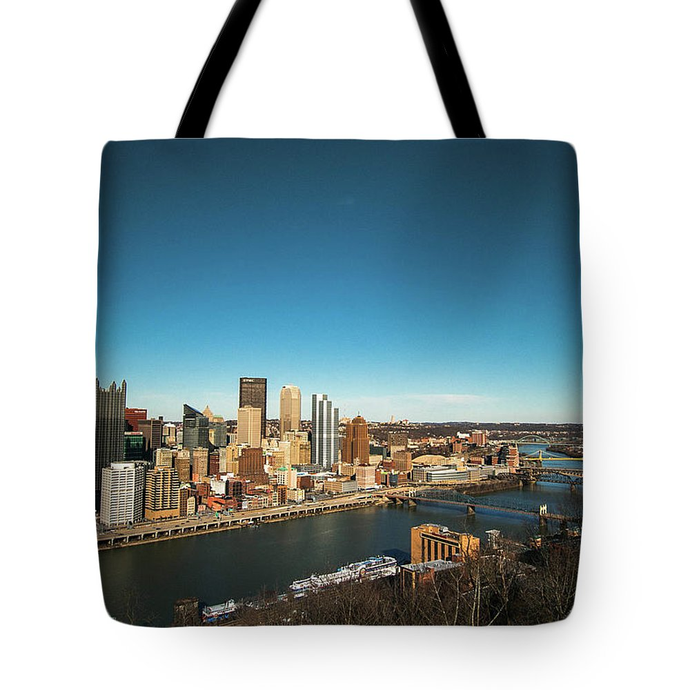 Photography Tote Bag featuring the photograph Pittsburgh by Jessica Hamlyn