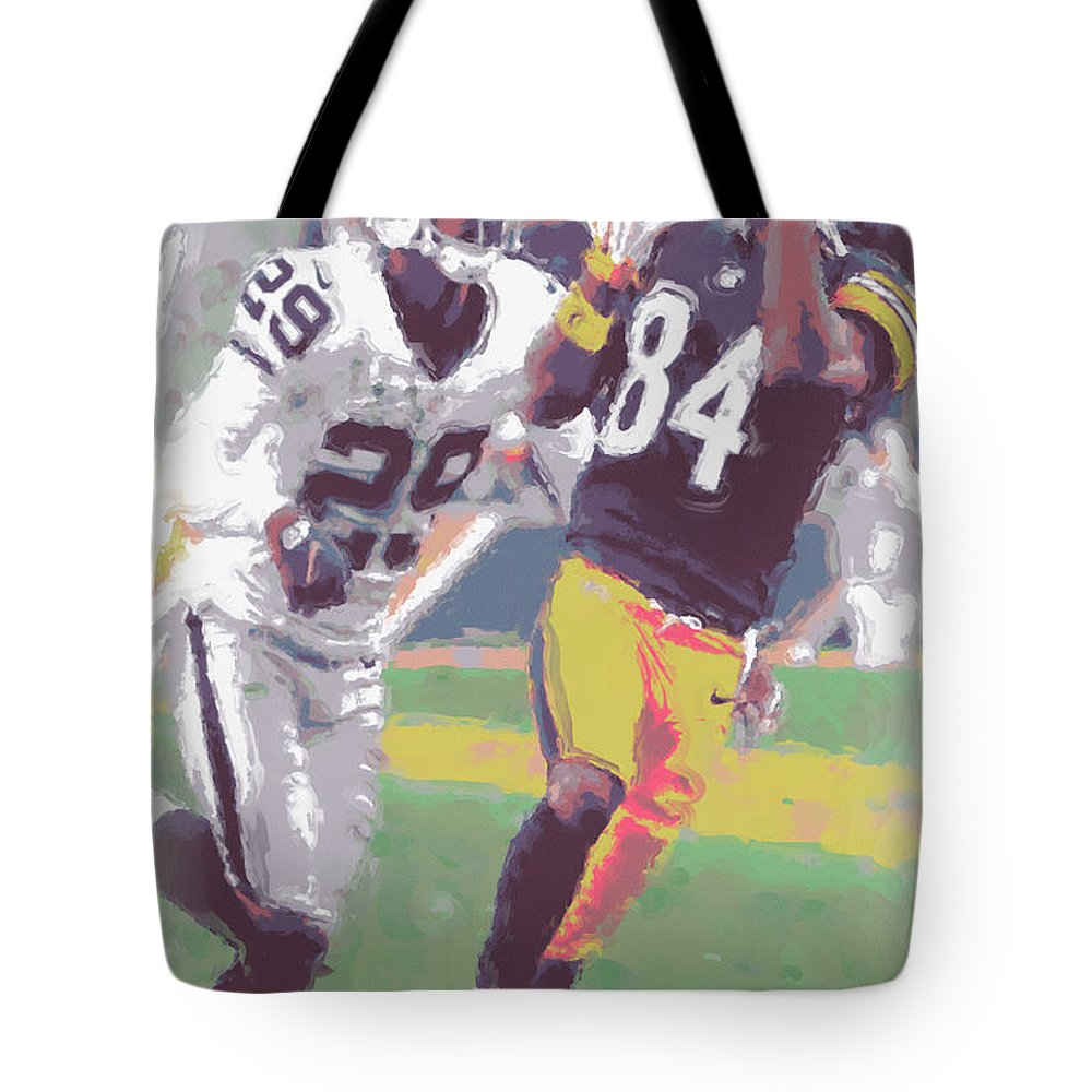 Pittsburgh Steelers Tote Bag featuring the photograph Pittsburgh Steelers Antonio Brown 1 by Joe Hamilton