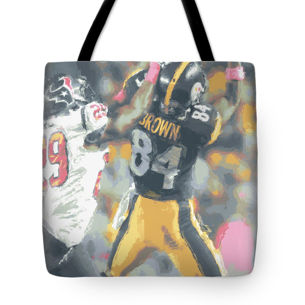 Pittsburgh Steelers Tote Bag featuring the photograph Pittsburgh Steelers Antonio Brown 2 by Joe Hamilton
