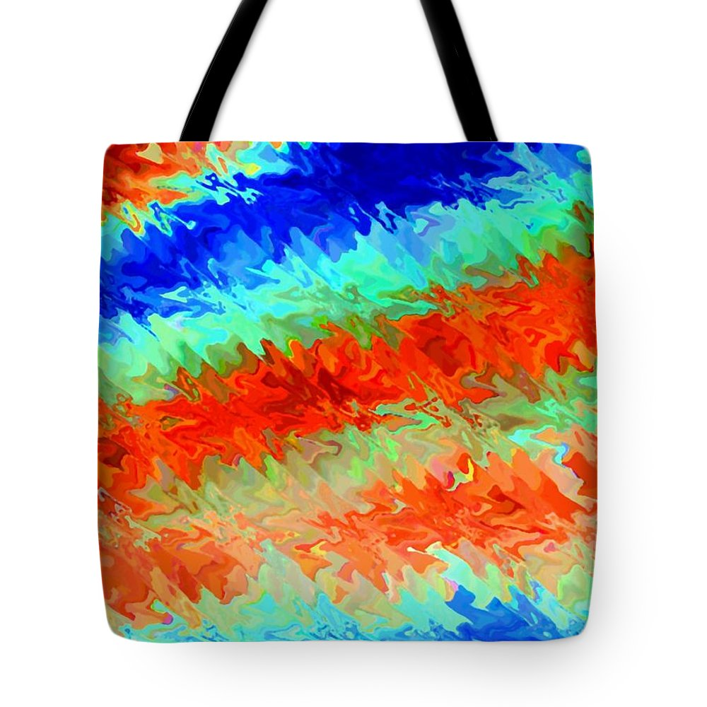 Abstract Tote Bag featuring the digital art Pizzazz 13 by Will Borden