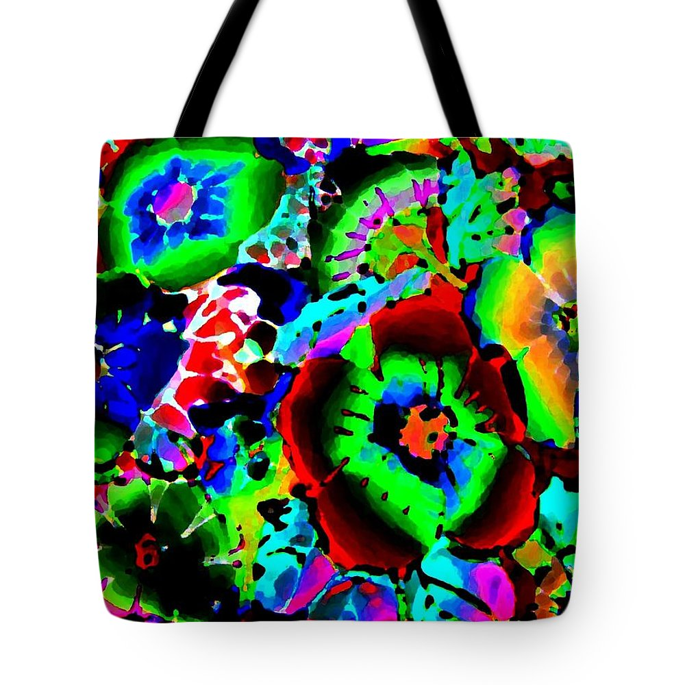 Abstract Tote Bag featuring the digital art Pizzazz 15 by Will Borden