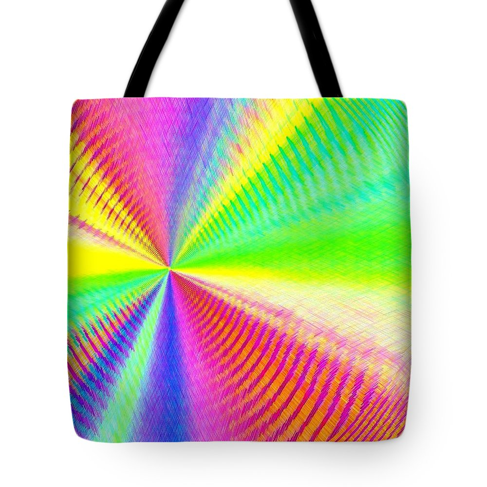 Abstract Tote Bag featuring the digital art Pizzazz 24 by Will Borden