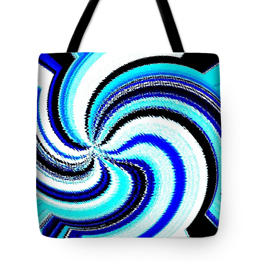 Abstract Tote Bag featuring the digital art Pizzazz 27 by Will Borden