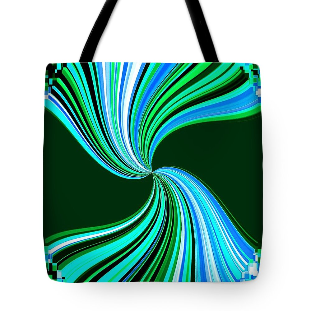 Abstract Tote Bag featuring the digital art Pizzazz 33 by Will Borden
