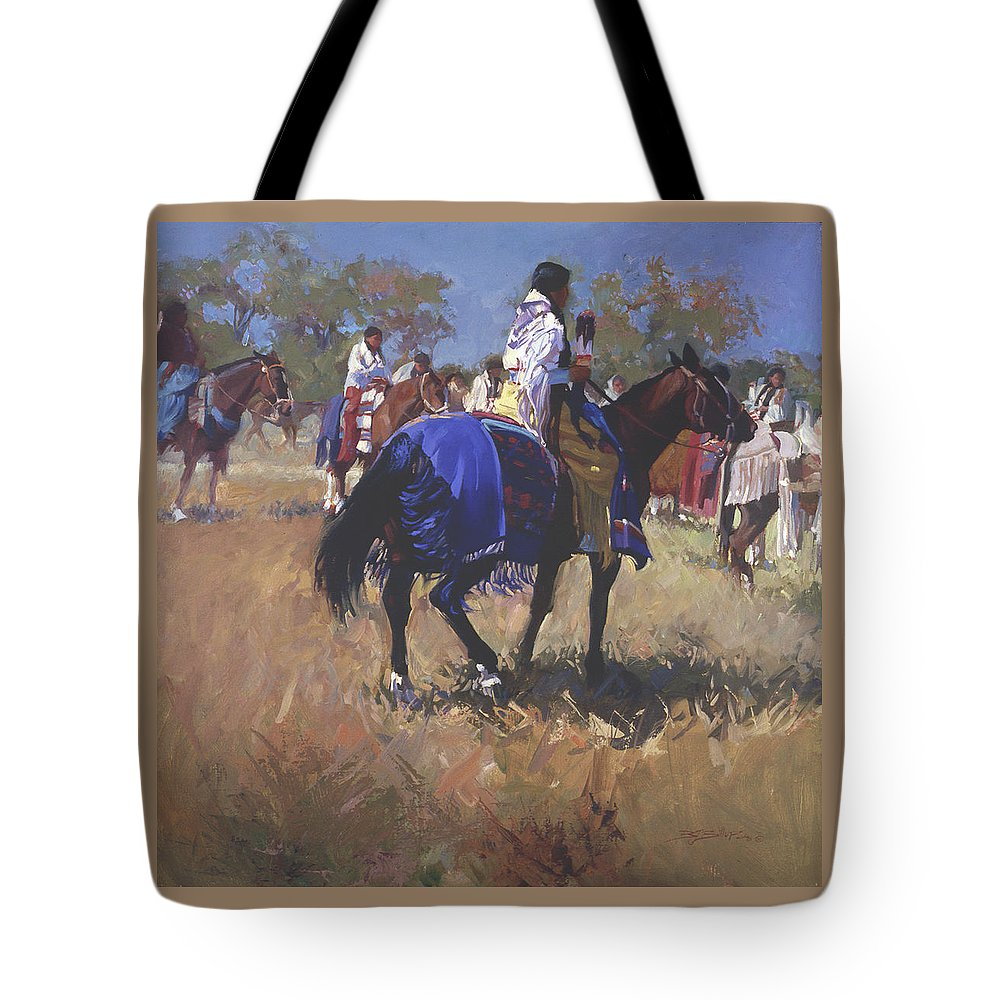 Horses Tote Bag featuring the digital art Place Of The Sun L. E. P. by Betty Jean Billups