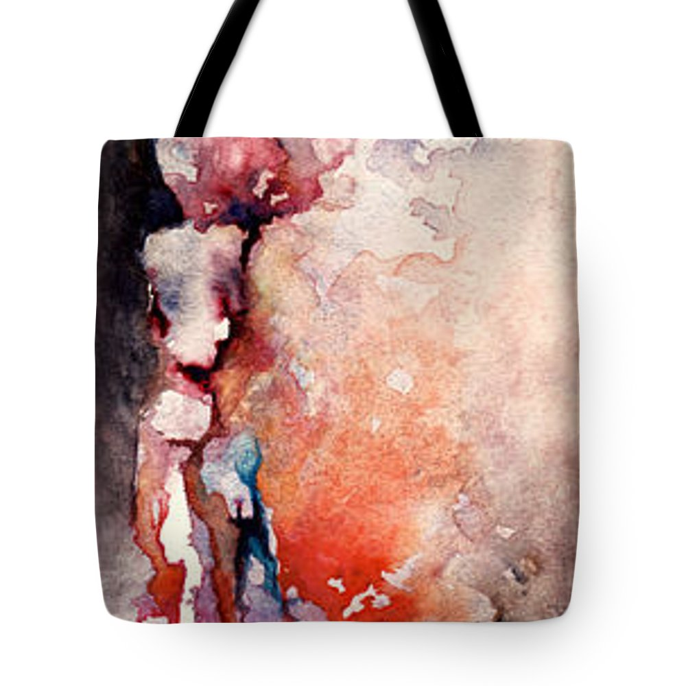 Abstract Tote Bag featuring the painting Places in the Heart by William Russell Nowicki