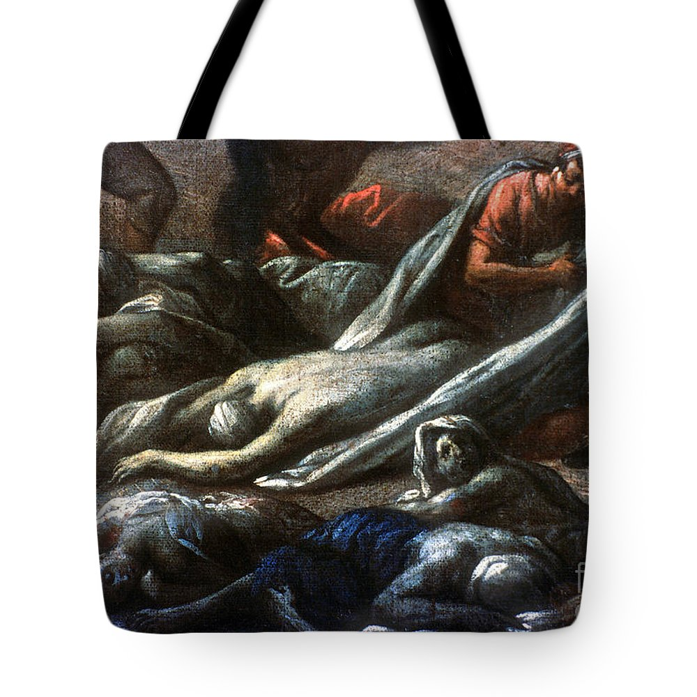 1720 Tote Bag featuring the photograph Plague In Marseilles, 1720 by Granger
