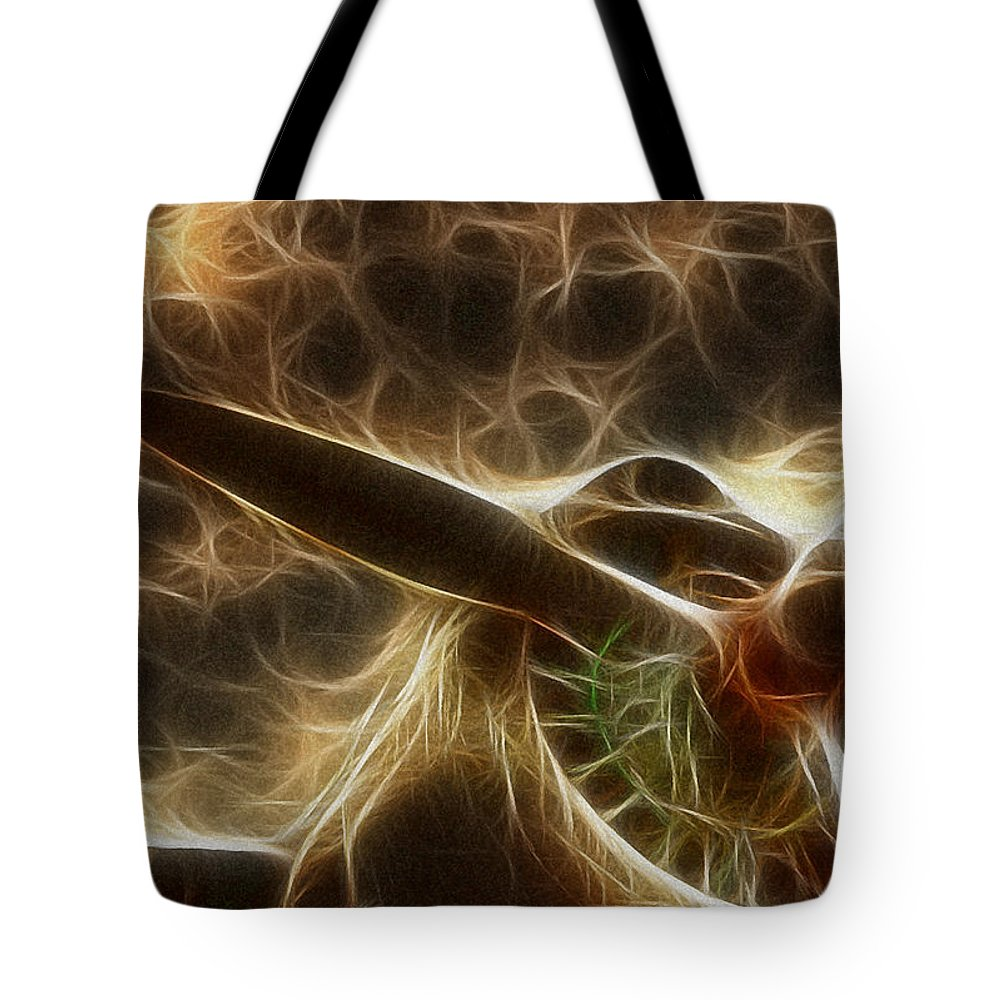 Air Tote Bag featuring the photograph Plane Golden Fire by Paul Ward