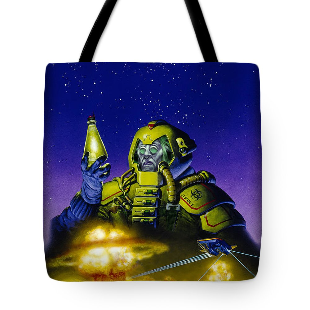 Space Tote Bag featuring the painting Planet Wars by Richard Hescox