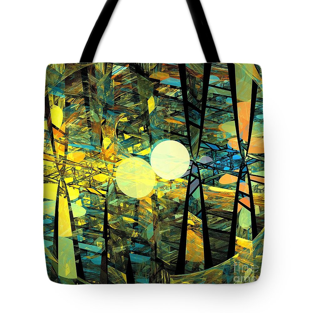 Apophysis Tote Bag featuring the digital art Planetary Ellipses by Kim Sy Ok