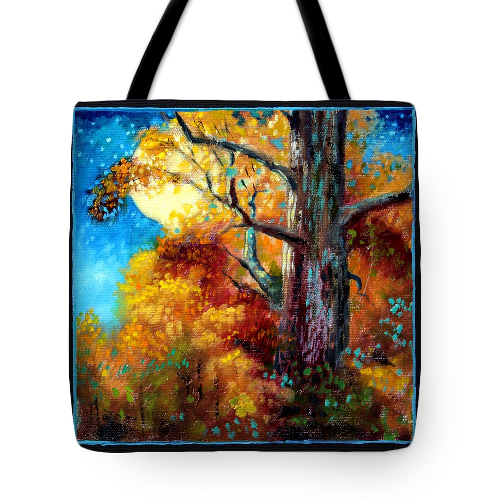 Fall Tote Bag featuring the painting Planets Image Six by John Lautermilch